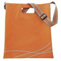 Bolsa con diseño de líneas onduladas naranja