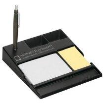 Set de escritorio con bloc de notas y adhesivas