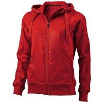 Sudadera con capucha y cremallera marca Elevate roja