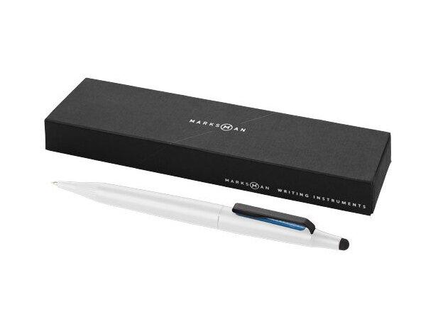 Bolígrafo puntero ligero en metal personalizado blanco