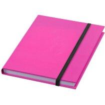 Bloc de notas A6 con tapas duras de colores rosa neón
