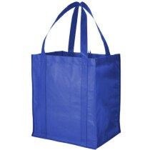 Bolsa de la compra de gran capacidad personalizada azul medio