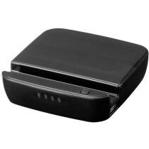 Batería externa 2200mah con soporte personalizada negro intenso