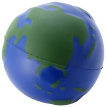 Antiestrés con forma de globo terráqueo azul