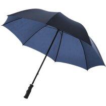 Paraguas de golf con varillas de metal con logo azul marino