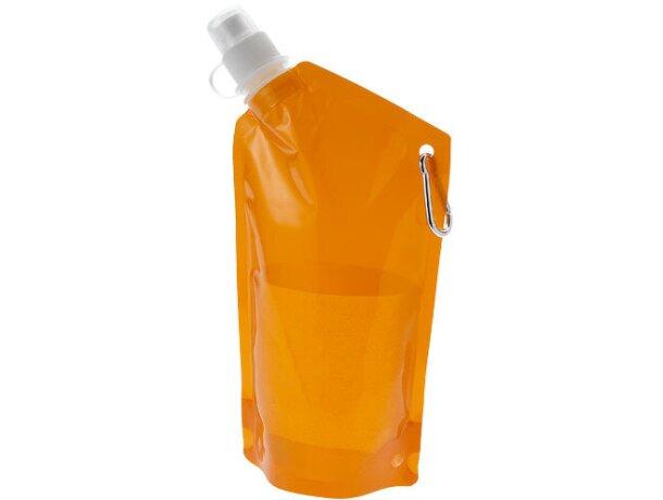 Bolsa de agua 600 ml personalizada naranja transparente