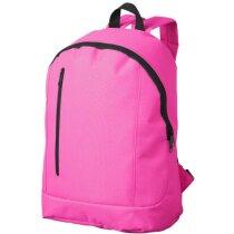 Mochila lisa con bolsillo vertical personalizada rosa neón