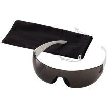 Gafas de sol deportivas con patillas blancas negro intenso personalizado