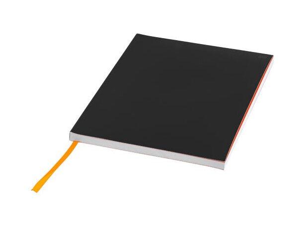 Libreta tamaño A5 con banda elástica horizontal negro intenso