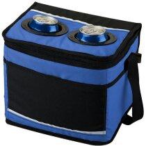 Bolsa isotérmica para 12 latas personalizada azul medio