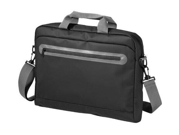 Bolsa de congresos de diseño personalizada negro intenso