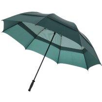 "Paraguas anti tormenta de 32"" economico verde"