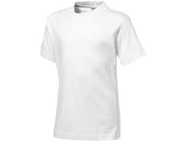 Camiseta para niños básica manga corta 150 gr blanca barata