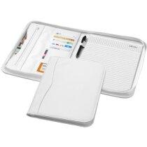 Portafolios con cremallera tamaño A4 personalizado blanco