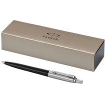 Estuche de bolígrafo elegante de la marca Parker personalizado negro intenso