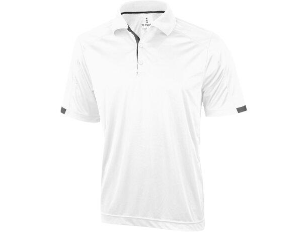 Polo manga corta unisex kiso de Elevate 150 gr personalizado blanco