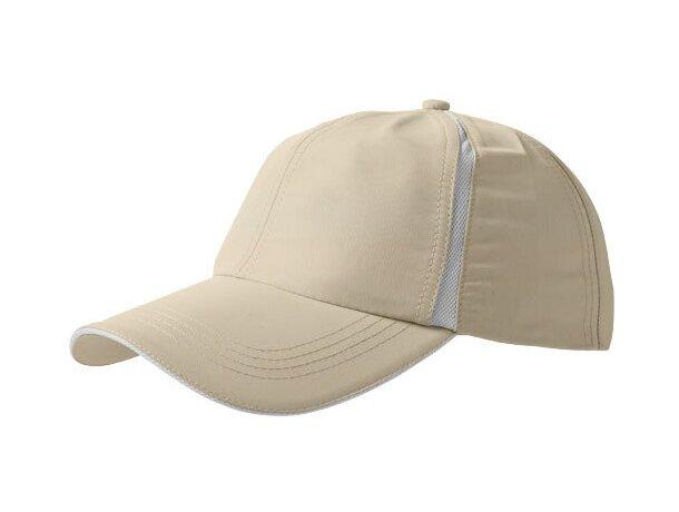 Gorra en poliester para deportes personalizada marrón claro