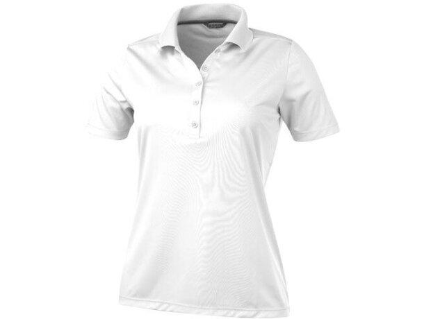 Polo de manga corta de mujer dade de Elevate 155 gr personalizado blanco