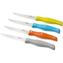 Set de cuchillos para carne 4 piezas multicolor