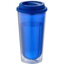 Vaso térmico con doble pared libre BPA azul