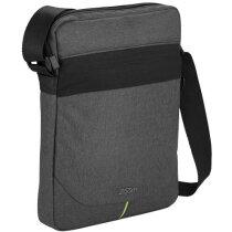 Bolsa bandolera para tablet acolchada personalizada gris