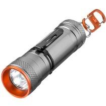 Linterna de aluminio de doble uso barata gris