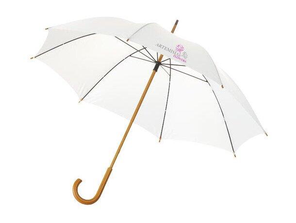 """Paraguas de 23"""" clásico de colores personalizado blanco"""