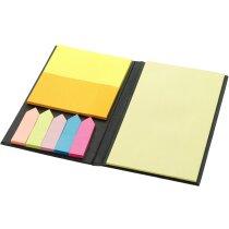 Set de notas adhesivas en varios colores negro intenso personalizado