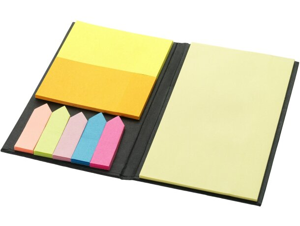 Set de notas adhesivas en varios colores personalizada negro intenso