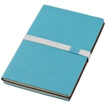 Bloc de notas combinada en polipiel y plástico personalizada azul