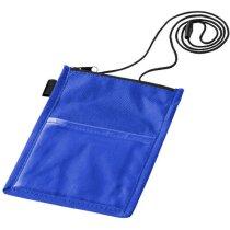 Portatarjetas para credencial personalizada azul