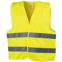 Chaleco de alta visibilidad para carretera personalizado amarillo