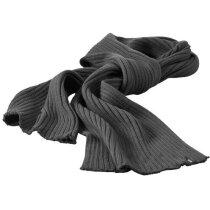 Bufanda de canalé personalizada gris