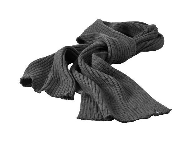 Bufanda de canalé gris barata