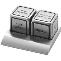Pisa papeles de metal dados personalizado plata