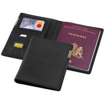 Cartera para el pasaporte negro intenso