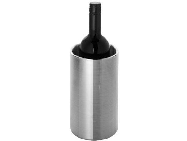 Enfriador de botellas de vino personalizado plata