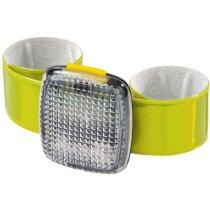 Luz parpadeante con brazalete elástico personalizada amarilla