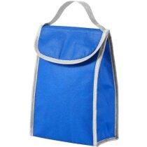 Bolsa isotérmica con cierre de velcro personalizada azul medio