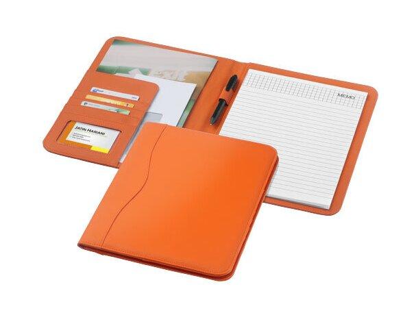 Portafolios tamaño A4 en polipiel de colores personalizado naranja