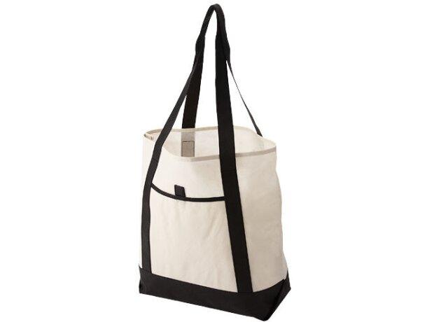 Bolsa con bolsillo delantero de ojal personalizada blanco roto
