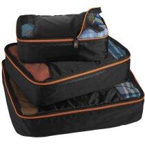 Set de 3 organizadores de maletas personalizado negro intenso