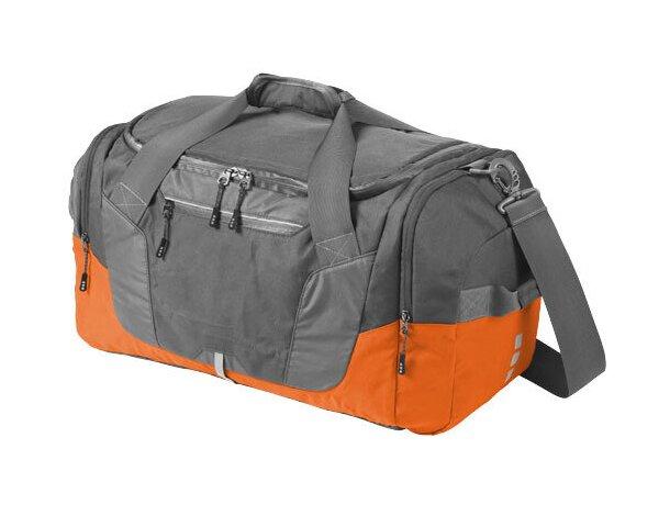 Bolsa de viaje de poliéster antidesgarros personalizada naranja
