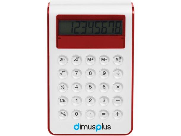 Calculadora con alzador grabada