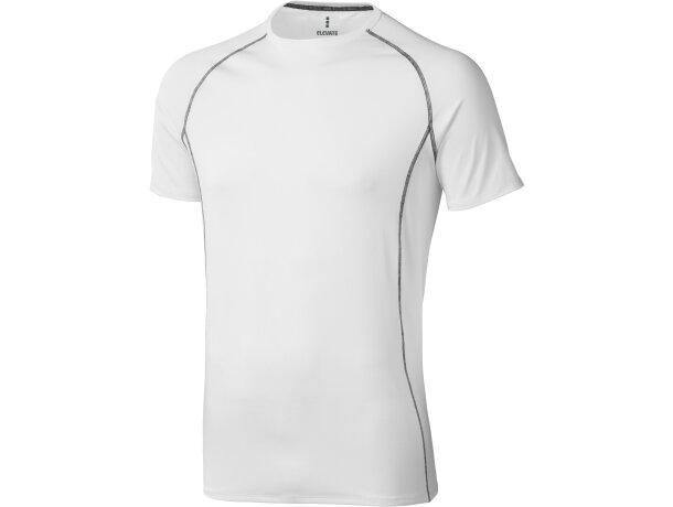 Camiseta de manga corta unisex kingston de Elevate 200 gr personalizada blanca