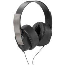 Auriculares modernos de metal personalizado negro intenso