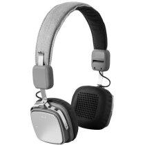 Auriculares de aluminio con bluetooth y micrófono gris personalizado