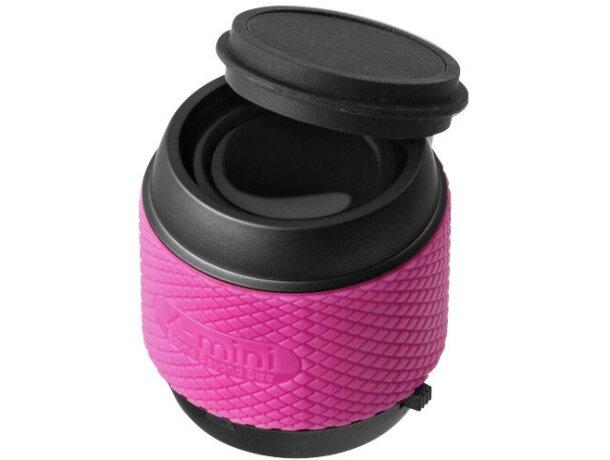 Altavoz mini de gran calidad con estuche rosa