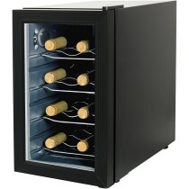 Frigorífico para 8 botellas de vino personalizado negro intenso