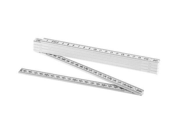 Regla plegable de 2 metros personalizada blanca